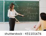 teacher or docent or educator... | Shutterstock . vector #451101676
