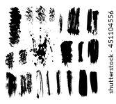 set of grunge dry brush  line ... | Shutterstock .eps vector #451104556
