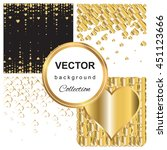 gold abstract pattern... | Shutterstock .eps vector #451123666