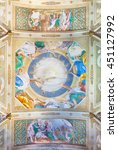 Small photo of CREMONA, ITALY - MAY 24, 2016: The fresco of Pentecost on the vault Chiesa di San Sigismondo church by Giulio Campi (1542).