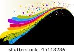 abstract vector of rainbow and... | Shutterstock .eps vector #45113236