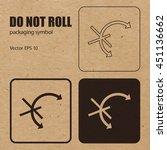 do not roll vector packaging... | Shutterstock .eps vector #451136662