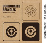 corrugated recycles vector... | Shutterstock .eps vector #451136686