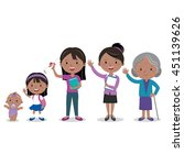woman life stages. vector... | Shutterstock .eps vector #451139626