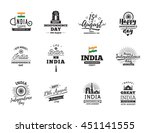 india independence day  15th... | Shutterstock .eps vector #451141555