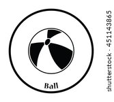 baby rubber ball icon. thin... | Shutterstock .eps vector #451143865