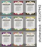 set certificate of appreciation.... | Shutterstock .eps vector #451147942