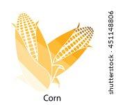 corn icon. flat color design....