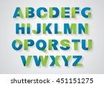 vector of stylized paper font... | Shutterstock .eps vector #451151275