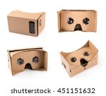 cardboard virtual reality... | Shutterstock . vector #451151632