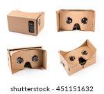 cardboard virtual reality... | Shutterstock . vector #451151632