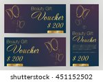 gift voucher template with gold ... | Shutterstock .eps vector #451152502