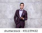 Young Stylish Smiling Man In A...