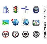road icons | Shutterstock .eps vector #45116311