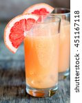 Stock photo grapefruit and tequila paloma cocktail 451167118