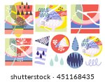 vector set of abstract graphic... | Shutterstock .eps vector #451168435