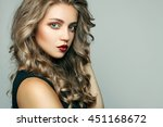 portrait of beautiful sensual... | Shutterstock . vector #451168672