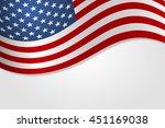 american flag vector... | Shutterstock .eps vector #451169038