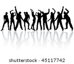 dancing people silhouettes  ... | Shutterstock .eps vector #45117742