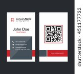 red and gray business card with ... | Shutterstock .eps vector #451177732