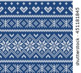 festive sweater fairisle design.... | Shutterstock .eps vector #451181845