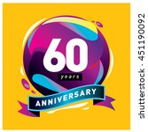 60th years greeting card... | Shutterstock .eps vector #451190092