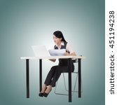asian business woman sit and... | Shutterstock . vector #451194238