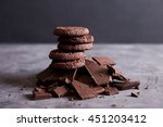 Chocolate Cookies On A Hill Ou...