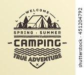 true adventure. summer camping... | Shutterstock .eps vector #451204792