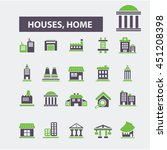 houses  home icons | Shutterstock .eps vector #451208398