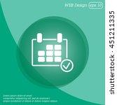 web line icon. calendar | Shutterstock .eps vector #451211335