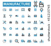 manufacture icons | Shutterstock .eps vector #451215745