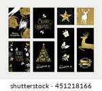 set of merry christmas happy... | Shutterstock .eps vector #451218166