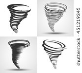 tornado. set of vector... | Shutterstock .eps vector #451219345