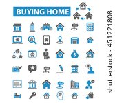 buying home icons | Shutterstock .eps vector #451221808