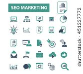 seo marketing icons | Shutterstock .eps vector #451227772
