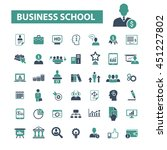 business school icons | Shutterstock .eps vector #451227802