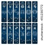 vertical zodiac signs banners... | Shutterstock .eps vector #451230772