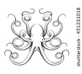 Engraved Octopus Vector...