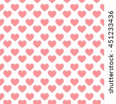 seamless striped hearts on... | Shutterstock .eps vector #451233436