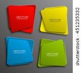 design shape origami vector... | Shutterstock .eps vector #451235332