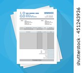 pack of unfill paper invoice... | Shutterstock .eps vector #451243936