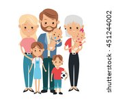 family cartoon concept... | Shutterstock .eps vector #451244002