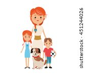 family cartoon concept... | Shutterstock .eps vector #451244026