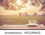 coffee espresso on wood table...   Shutterstock . vector #451249642