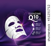 coenzyme q10 mask serum and... | Shutterstock .eps vector #451251712