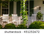 front porch with rocking chairs | Shutterstock . vector #451252672