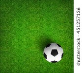 top views of soccer ball on... | Shutterstock . vector #451257136