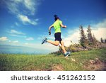 healthy young woman trail... | Shutterstock . vector #451262152