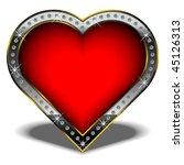 isolated vector valentine heart ...   Shutterstock .eps vector #45126313
